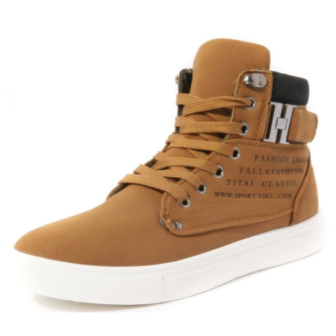Kay Dili Asia CUTDEER Smart high fashion boots warm canvas shoes men Korean wave high help shoes skateboarding shoes of England men's boots - DinoDirect.com