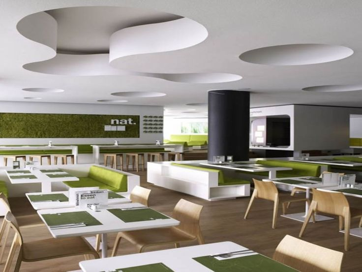 Modern minimalist restaurant design with green color for Minimalist color scheme interior design