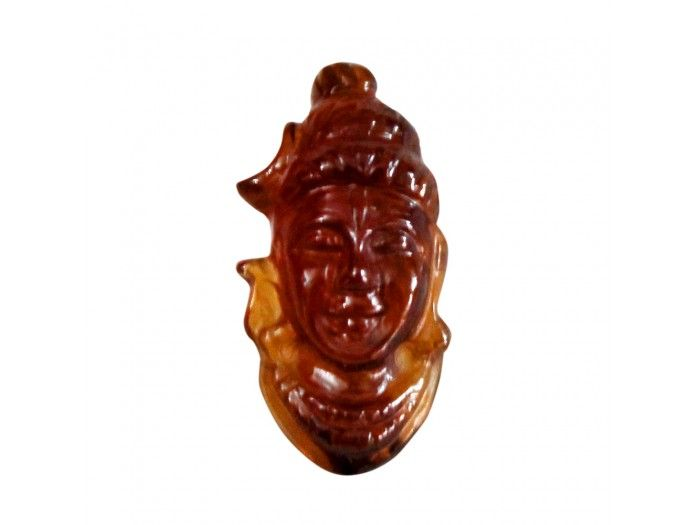 Face of Shiva in Gomedh / Hessonite - 16 carat buy online from India