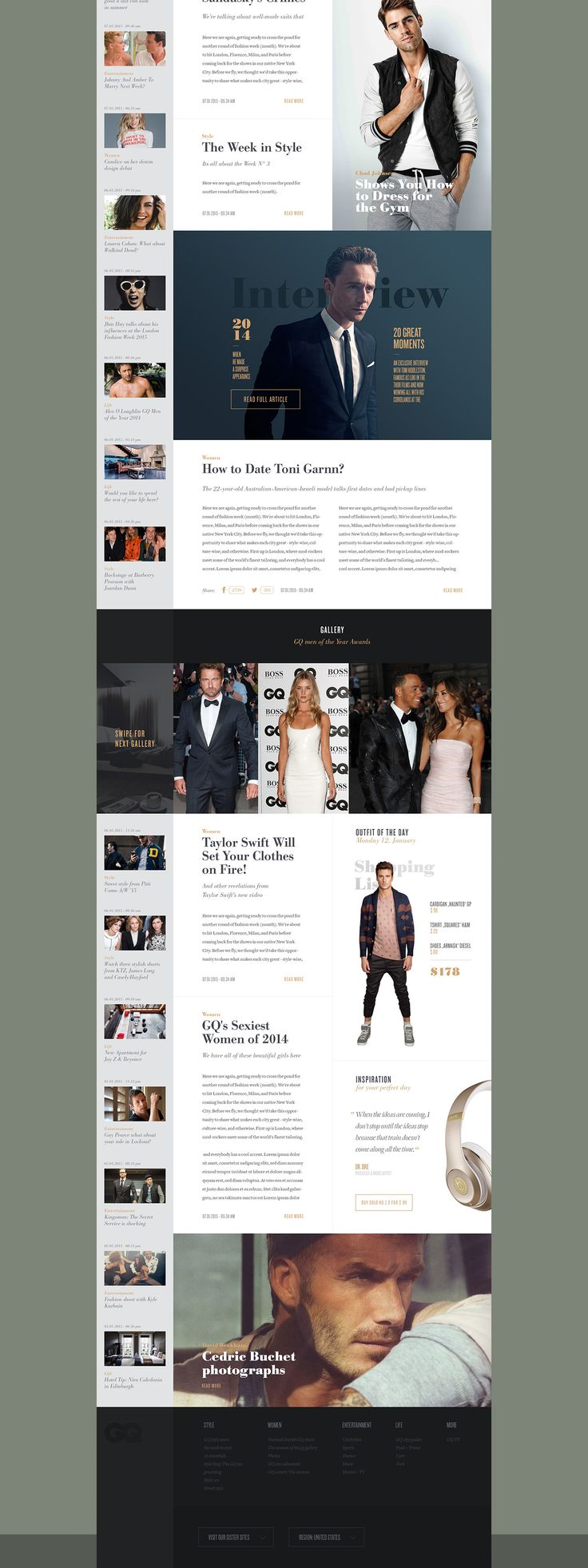 GQ Redesign Concept on Behance