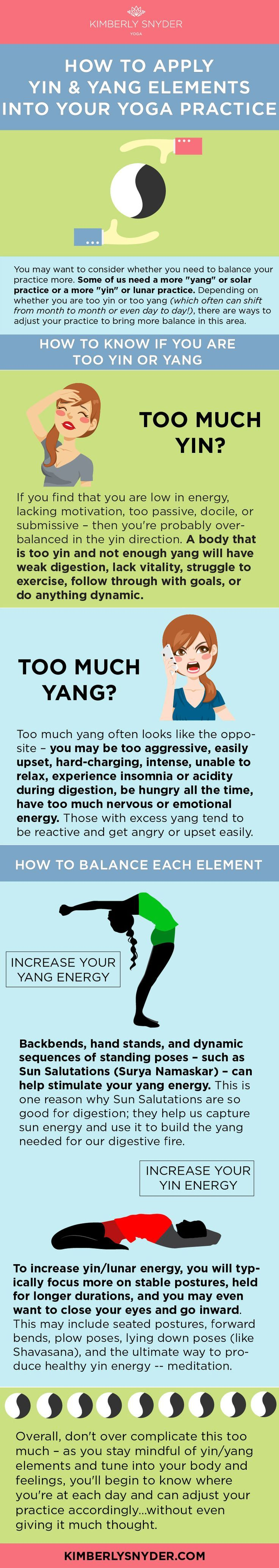 How to balance yin and yang with yoga. This is so interesting! #yoga