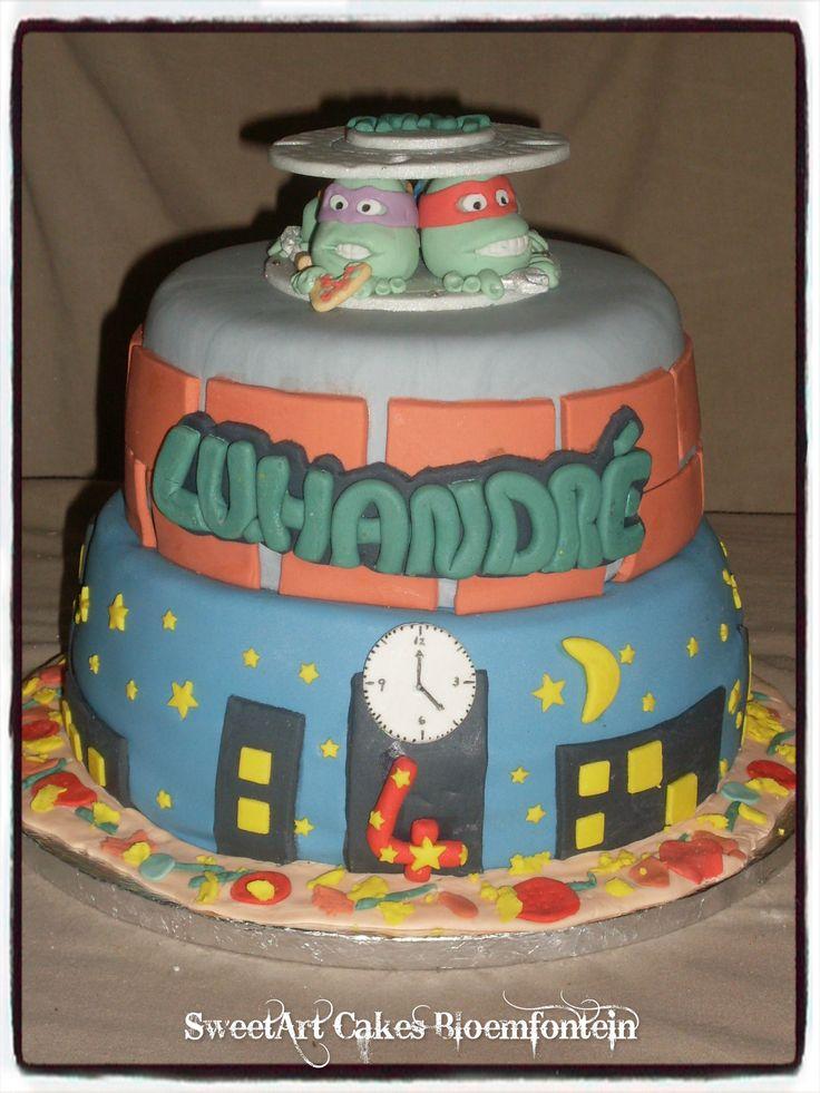 NINJA TURTLE CAKE.  For more information & orders email SweetArtBfn@gmail.com or call 0712127786. Follow me on Facebook:  https://www.facebook.com/sweetart.bloemfontein