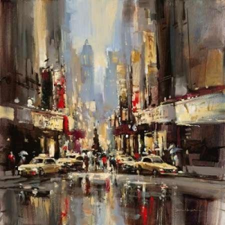 City Impression Canvas Art - Brent Heighton (24 x 24)