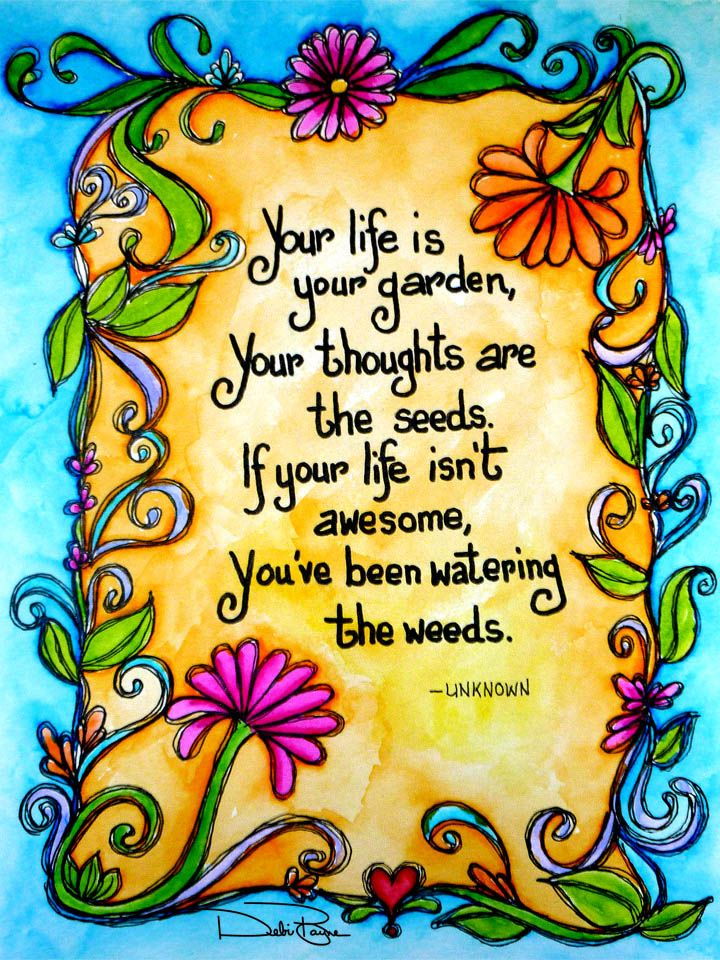 """Life Garden"" by Debi Payne Designs."