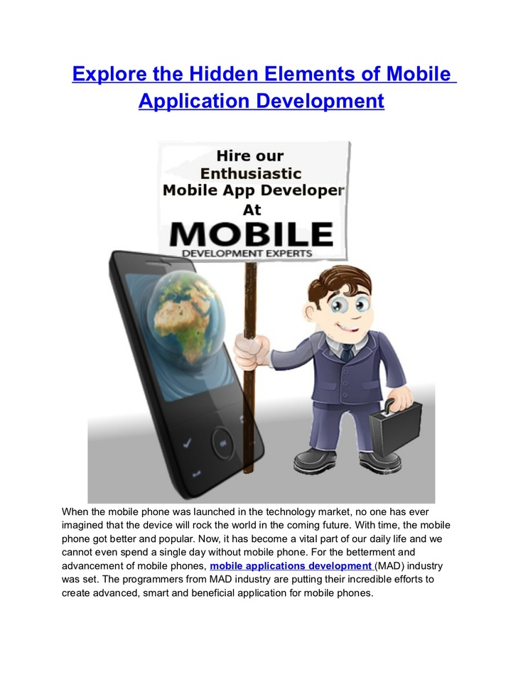 explore-the-hidden-elements-of-mobile-application-development by Ellen Wills via Slideshare