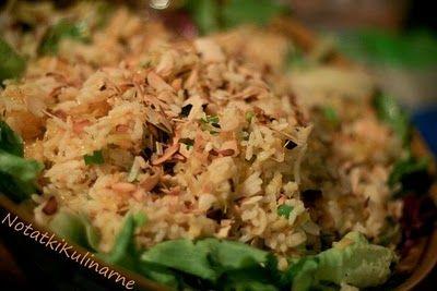 Sałatka Veracruz - ryżowa z kurczakiem i pomarańczami