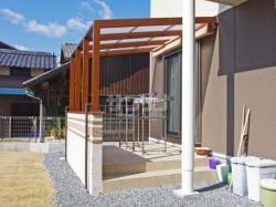 庭デザイン lixilココマとタイルデッキ 兵庫県たつの市