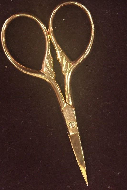 Beautiful Vintage Tres Claveles Spain Victorian Gold Tone Scissors | eBay
