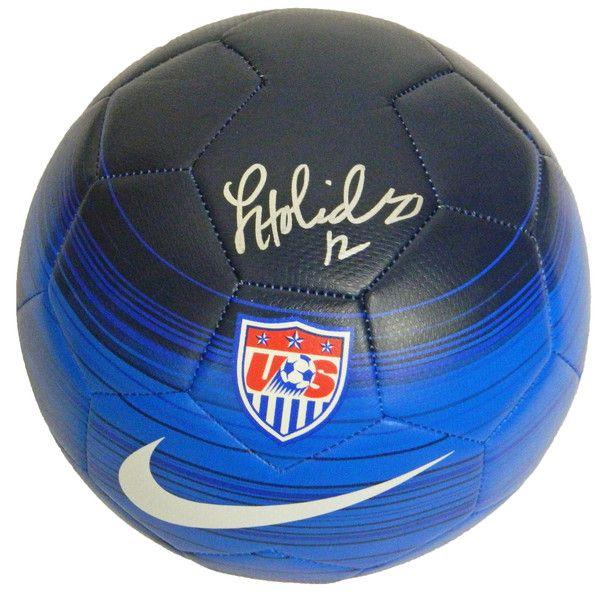 Lauren Holiday Signed USA Blue Nike Soccer Ball - Schwartz COA