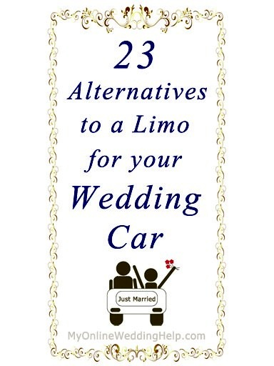 23 alternatives to a limo for the wedding car / transportation. All of this a funny. But I wouldn't use any of these idea hummer limo or limo bus! Is what I want