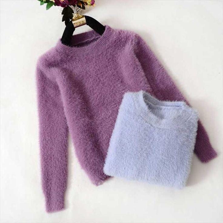 New Autumn Winter Soft Warm Christmas Sweater Pull femme Women Pullovers Feminino Solid Vrouwen Truien en korean Sweaters 650010