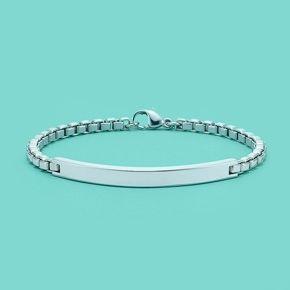 Bracelet D'identification En Argent Sterling, Petite Tiffany & Co.