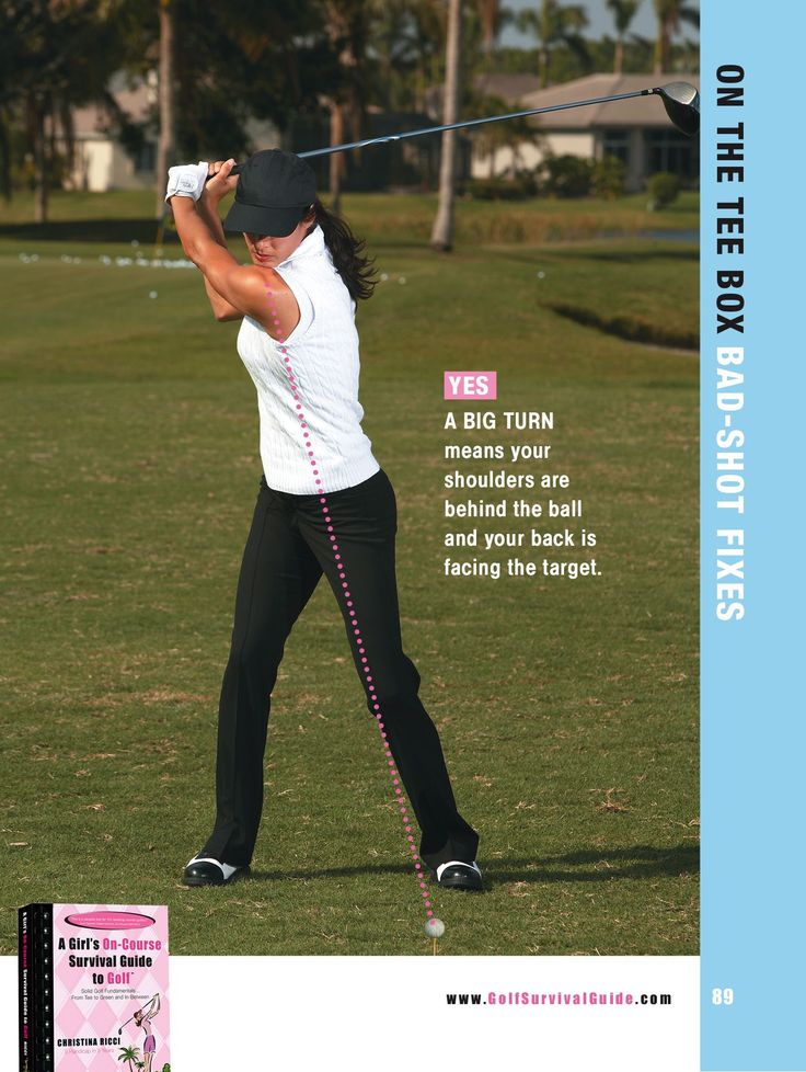 Get your back fully facing the target and that lead shoulder over your back toe for more power.