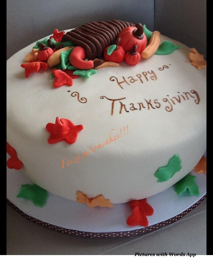 Thanksgiving Cake Fondant