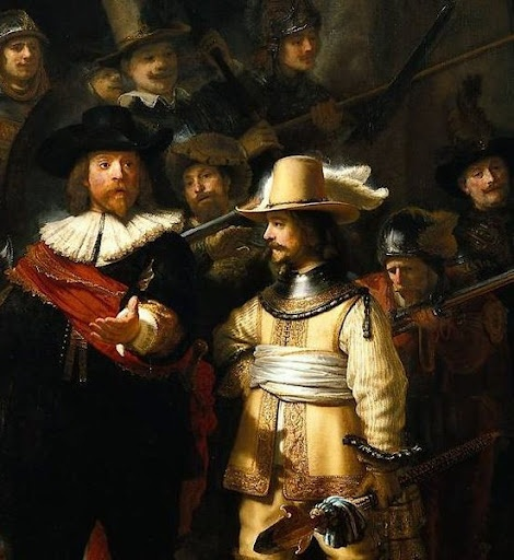 The_Nightwatch by Rembrandt detail
