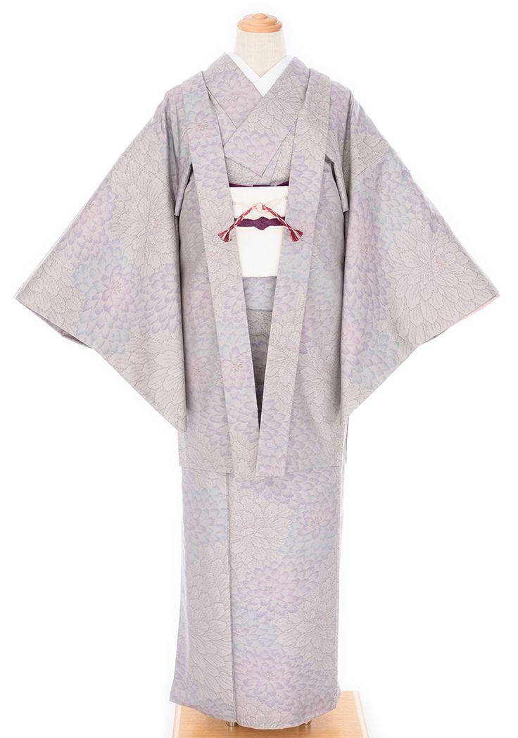 「大島紬アンサンブル 大輪牡丹」の商品画像