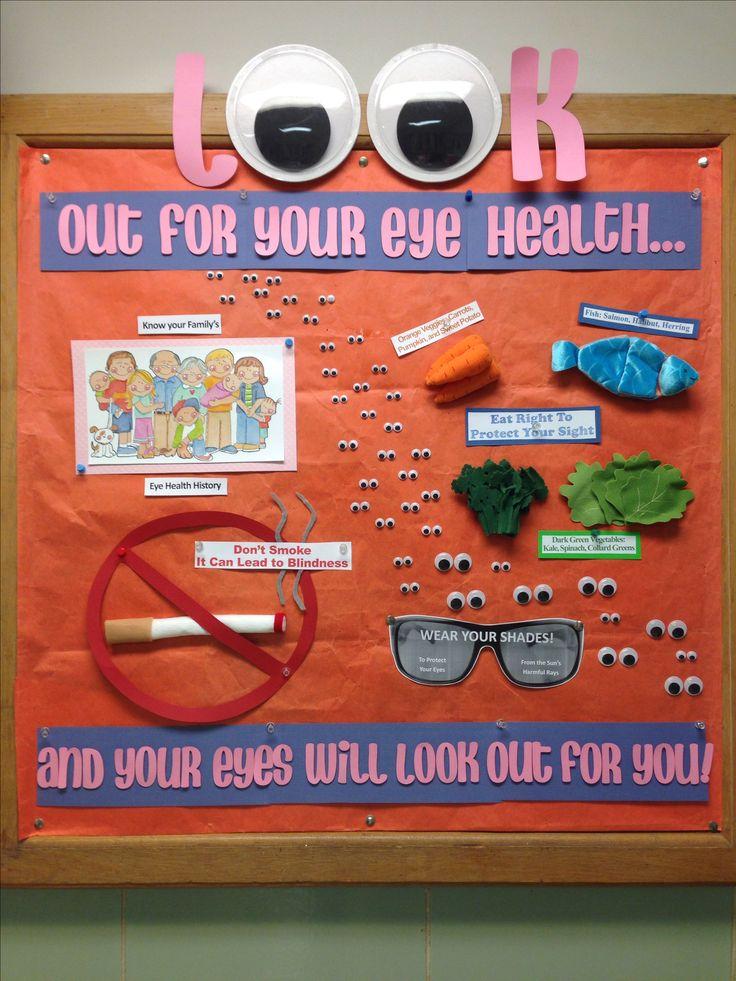 Eye Health bulletin board for May