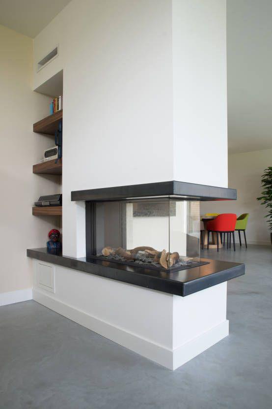 25 beste idee n over moderne woonkamers op pinterest moderne inrichting witte sofa decor en - Woonkamer en moderne keuken ...