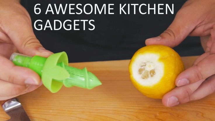 6 Amazing Useful Cooking Gadgets In this video, you will see 6 crazy fun useful gadgets that you can use in your home kitchen to make cooking a little easier...
