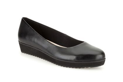 Clarks Compass Zone, Black Leather, Womens Smart Shoes