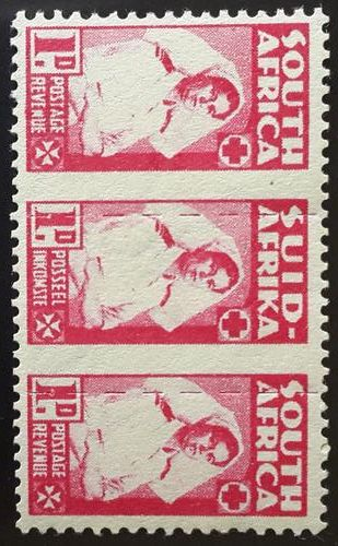 1942 South Africa war effort stamp / Nurse