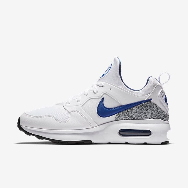 NIKE AIR MAX PRIME Blanc/Gris loup/Noir/Bleu international Référence -  Couleur # 876068-101 | Sneakers, Stuff that I Really Need and Sports |  Pinterest ...