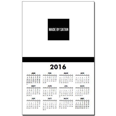 SATAN Calendar Print on CafePress.com #satanism #Satanic #2017 #666