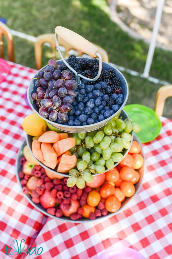 Beautiful way to serve fruit at an event!