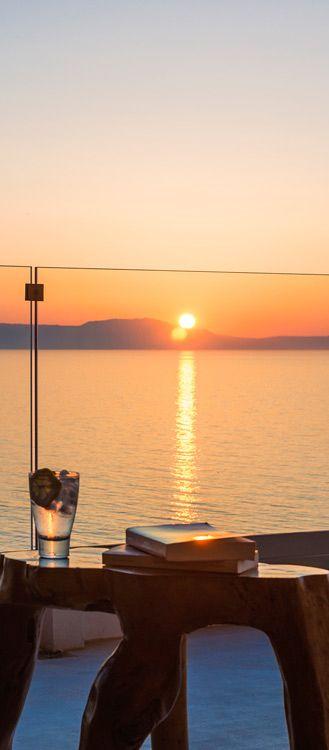 Sunset from Villa Kyma in Tersanas, Chania