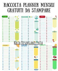 Nata disorganizzata: Refill gratuiti per l'agenda: planner mensili perpetui