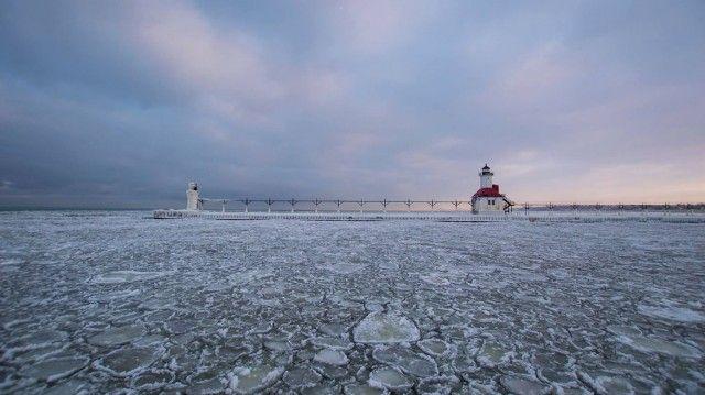 Frozen Lake Michigan | michigan lake frozen 5 Série Photo: Le Lac Michigan sous un froid ...