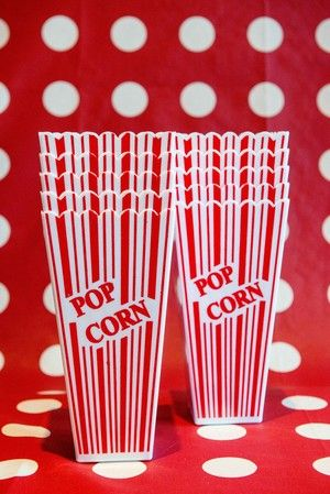Retro Popcorn Containers  By Melbourne's Mobile Movie Nights. -