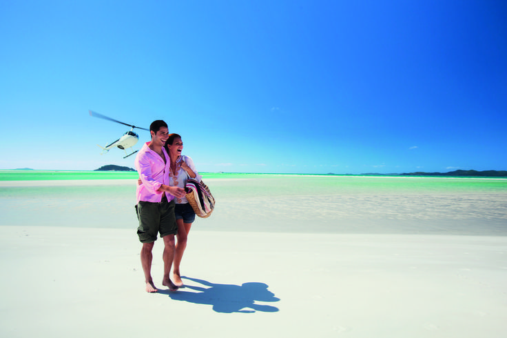 Did you know: the four mile-long Whitehaven Beach on Whitsunday Island boasts the purest sand in the world - 98 percent pure silica? The sand is so fine and blindingly white it looks like baby powder and makes a squeeky sound under foot. Can someone please help me describe the sound the sand makes when walking on the beach? #lovewhitsundays #thisisqueensland #seeaustralia