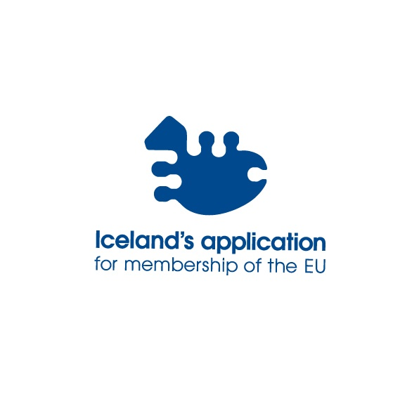 The name says it all. The shape of the logo refers to the geographical shape of Iceland.