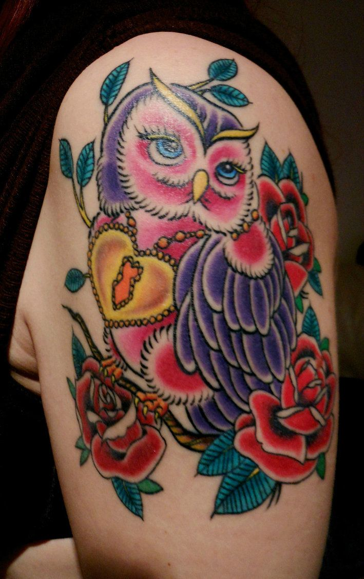 Pics Photos - Traditional Owl Tattoos Meaning