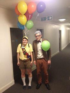 Russell und Carl Fredericksen aus Oben | Die 33 besten Halloween-Kostüme für alle, die Disney lieben