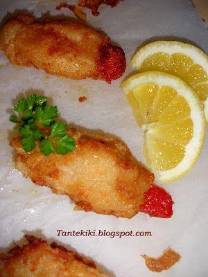 Tante Kiki: Τηγανιτά καλαμαράκια γεμισμένα με πιπεριά Φλωρίνης...