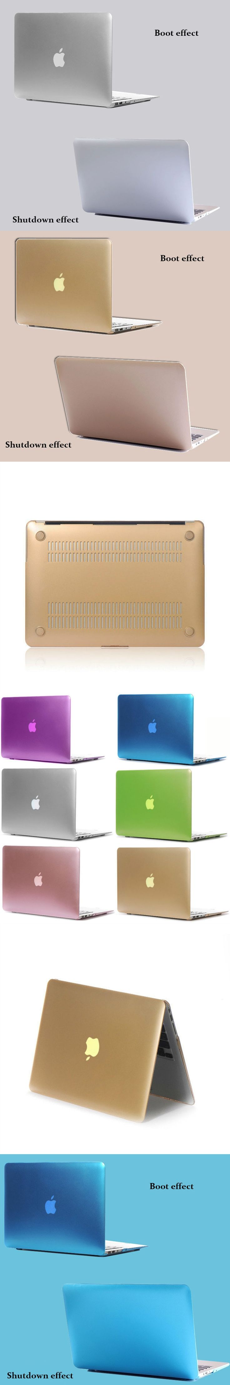 Newest Metal Colors Plastic Matte Case Cover for Macbook Air Retina Pro 11 12 13 15 Inch Laptop Bag Case for Macbook Pro Air 13