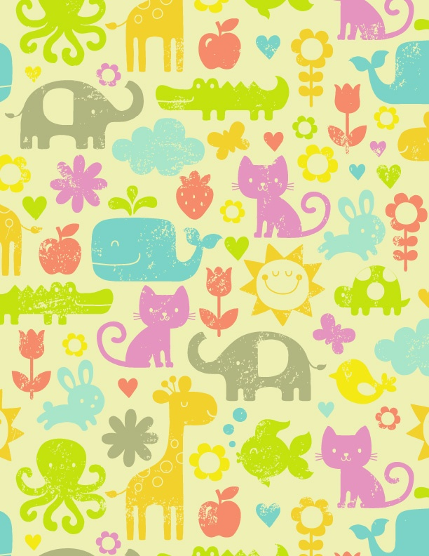 17 best images about cute animal patterns on pinterest for Animal print fabric for kids
