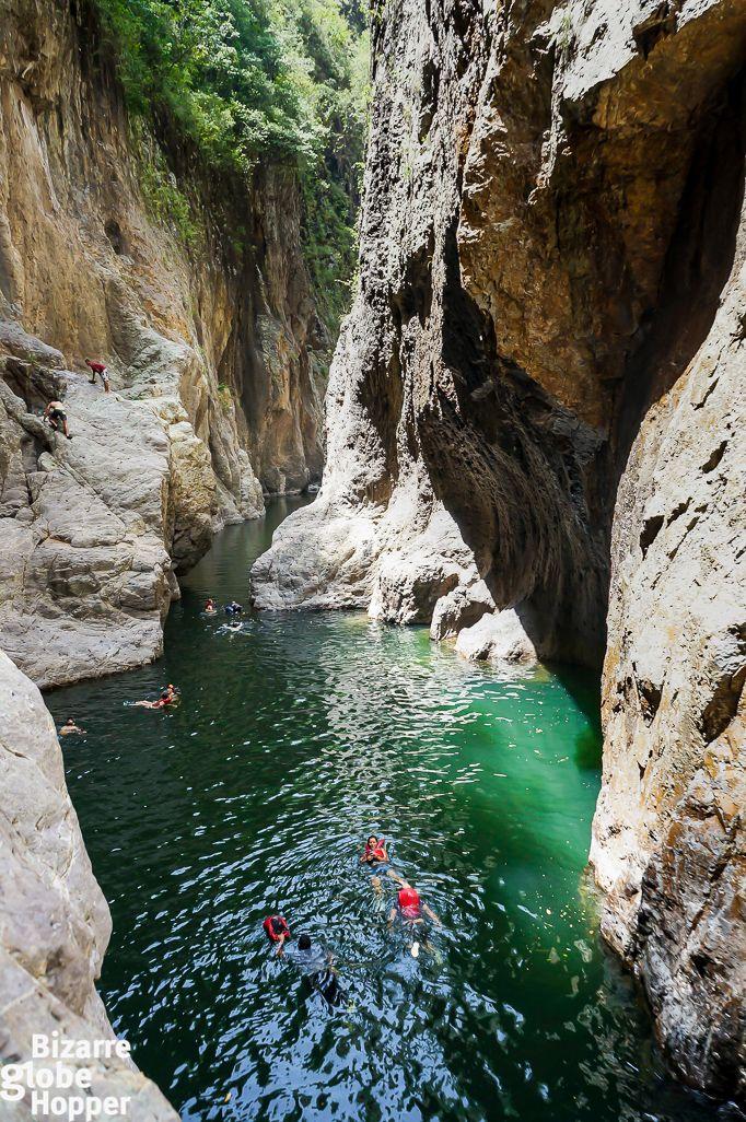 Swimming through Somoto Canyon in Nicaragua