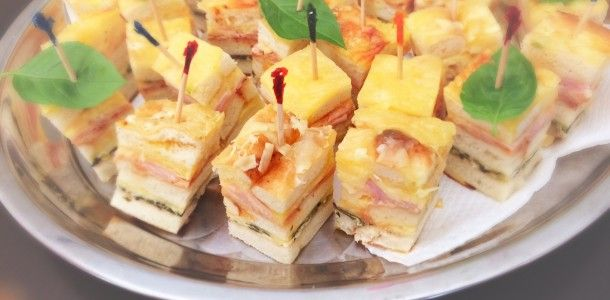 Flat Bread Layered Savoury Bites – Makes 80 appetisers | Cooking for Busy Mums
