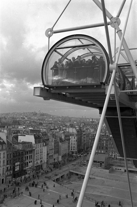 Opening the Centre Georges Pompidou in 1977