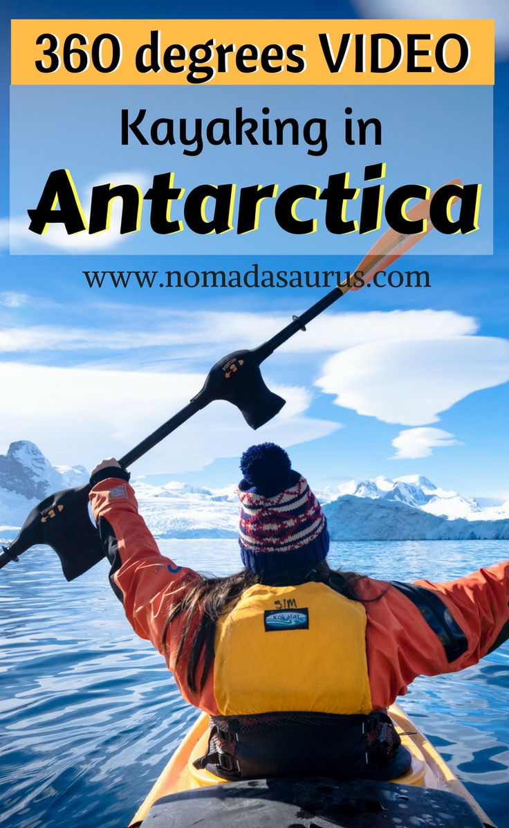 Want to go kayaking in Antarctica? Here is our 360 degrees video so you can come along on the journey with us. Travel to Antarctica.