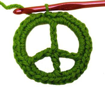 Crochet Spot » Blog Archive » Crochet Pattern: Peace Sign (detailed) - Crochet Patterns, Tutorials and News