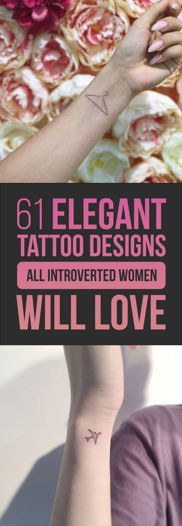 61 Elegant Tattoo Designs All Introverted Women Will Love