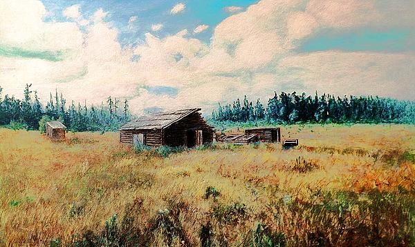 Douglas Lake Ranch is a modified photograph of the acrylic on hardboard painting by Stanley Funk. Details: http://stanley-funk.artistwebsites.com/featured/douglas-lake-ranch-stanley-funk.html