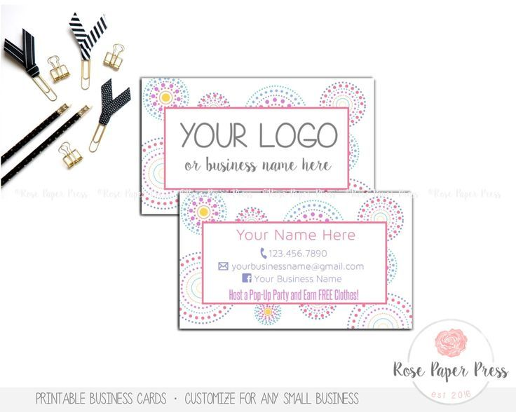 Business Cards, Circle Dots | Custom Printable Business Card by RosePaperPress on Etsy