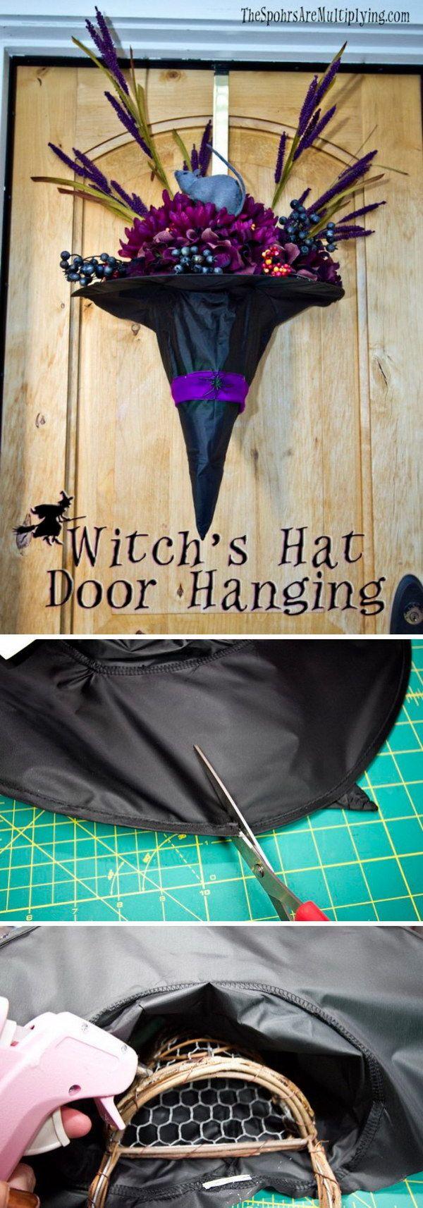 DIY Witch Hat Door Hanging.