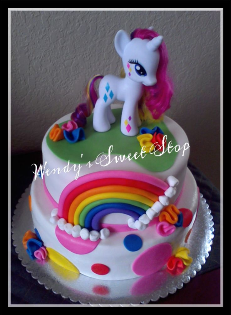 Gateau d'anniversaire my little poney