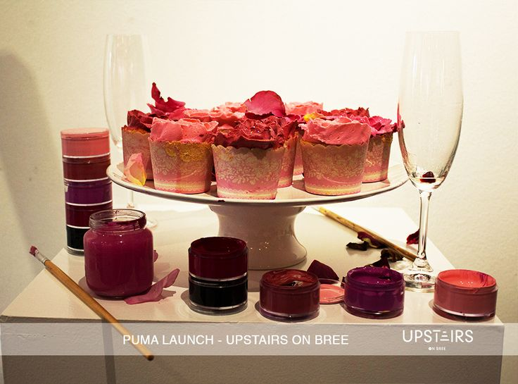 Upstairs on Bree  Puma Product Launch  #cupcakes #pink #event #paint #creative #fun #puma